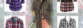 looks com camisa xadrez 2012