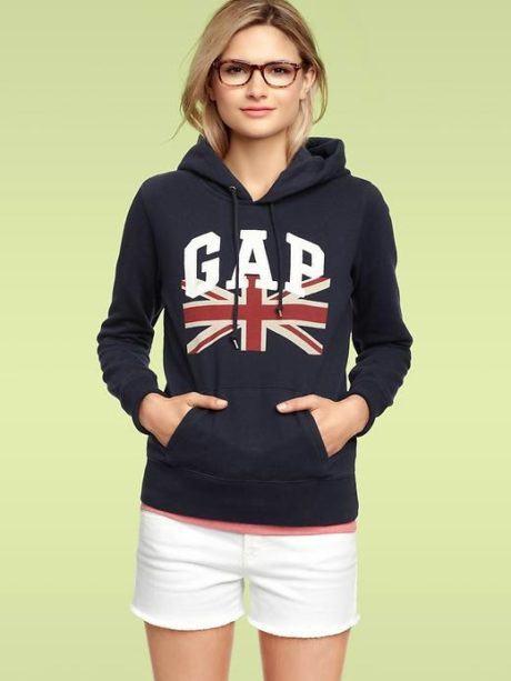 moletom gap feminino com shorts 460x613 - MOLETOM FEMININO GAP modelos outono inverno