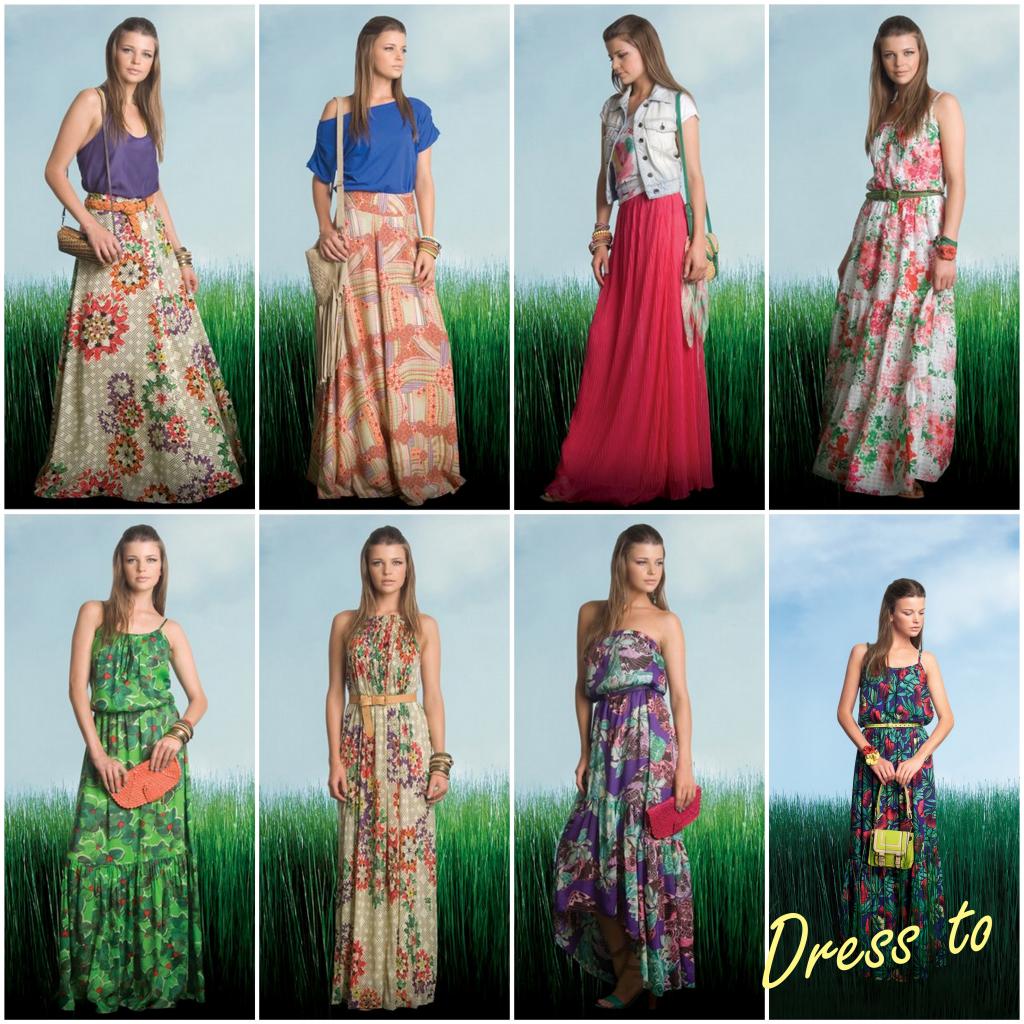 saias e vestidos longos na moda verao 2013