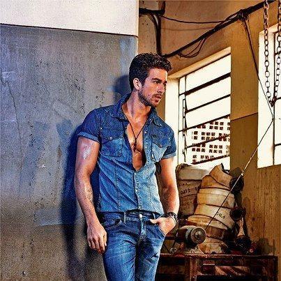 camisa jeans masculina moda verao 2013