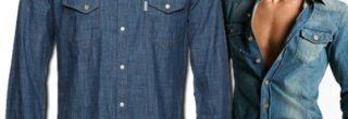 camisa masculina jeans 2013
