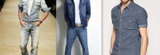 camisas jeans masculinas moda verao 2013