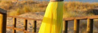 saias-plissadas-amarelas para -verao-2013