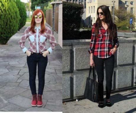 3 1 460x383 - CAMISA XADREZ FEMININA : Como usar com calça, saia, ou shorts