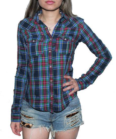 3 460x550 - CAMISA XADREZ FEMININA : Como usar com calça, saia, ou shorts