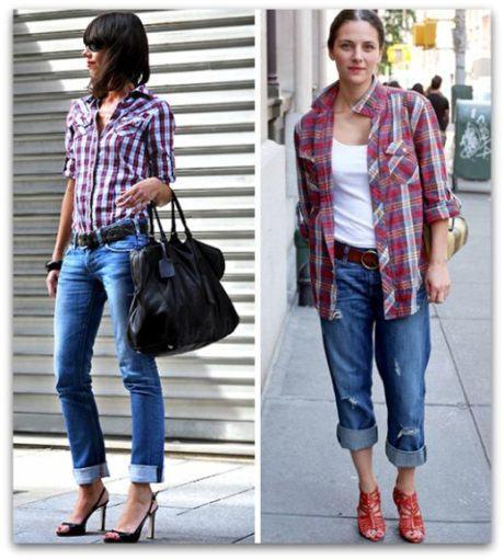 5 460x511 - CAMISA XADREZ FEMININA : Como usar com calça, saia, ou shorts
