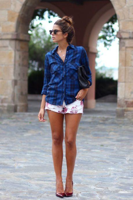 imagem 14 460x690 - CAMISA XADREZ FEMININA : Como usar com calça, saia, ou shorts