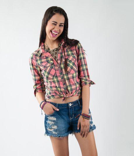 imagem 16 460x533 - CAMISA XADREZ FEMININA : Como usar com calça, saia, ou shorts