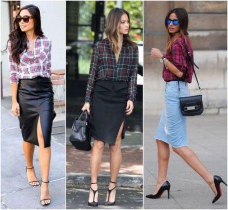 imagem 22 460x424 - CAMISA XADREZ FEMININA : Como usar com calça, saia, ou shorts