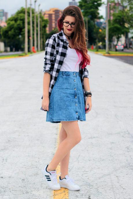 imagem 23 460x690 - CAMISA XADREZ FEMININA : Como usar com calça, saia, ou shorts