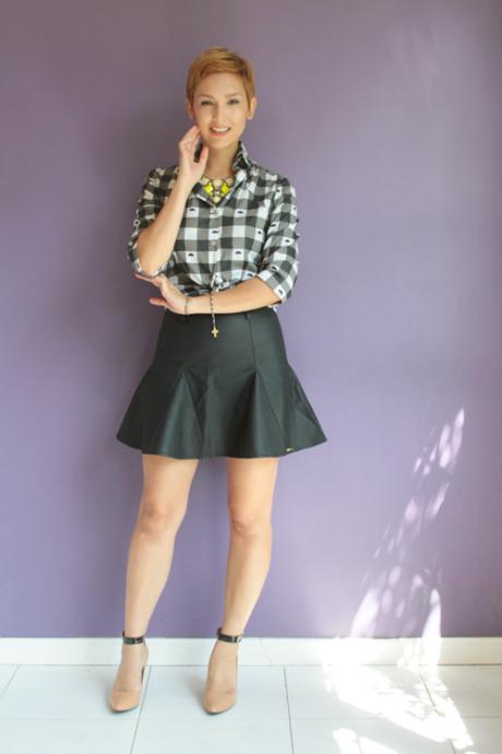 imagem 25 460x690 - CAMISA XADREZ FEMININA : Como usar com calça, saia, ou shorts