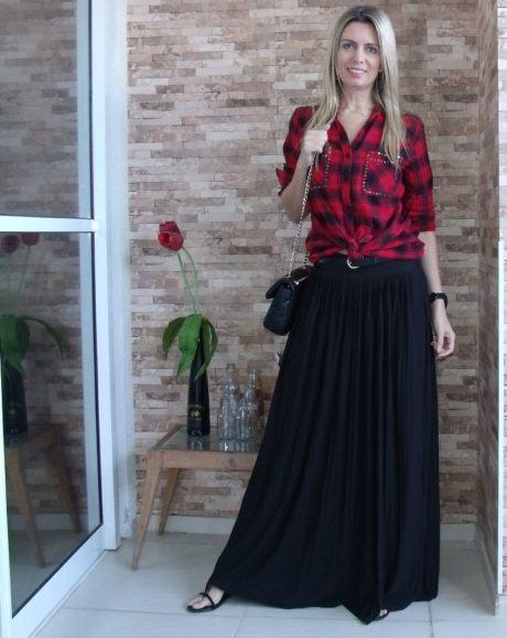 imagem 28 460x579 - CAMISA XADREZ FEMININA : Como usar com calça, saia, ou shorts