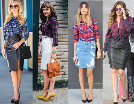 imagem 30 460x358 - CAMISA XADREZ FEMININA : Como usar com calça, saia, ou shorts