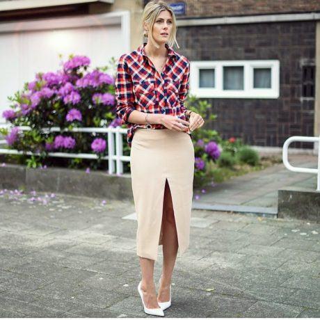 imagem 31 460x460 - CAMISA XADREZ FEMININA : Como usar com calça, saia, ou shorts