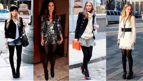 como usar meia calca looks 460x260 - LOOKS COM MEIA CALÇA : Com Saia, Vestido ou shorts (Moda Inverno)