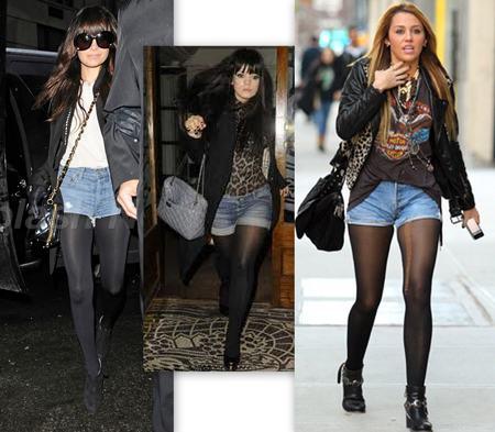 imagem 10 1 - LOOKS COM MEIA CALÇA : Com Saia, Vestido ou shorts (Moda Inverno)