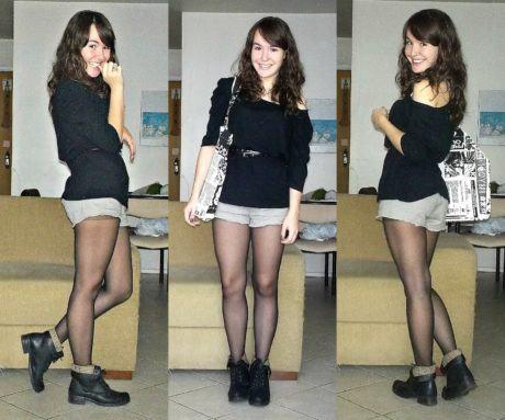 imagem 11 1 460x383 - LOOKS COM MEIA CALÇA : Com Saia, Vestido ou shorts (Moda Inverno)