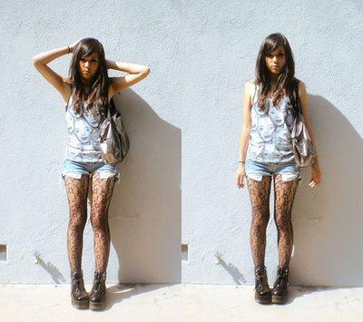 imagem 15 1 - LOOKS COM MEIA CALÇA : Com Saia, Vestido ou shorts (Moda Inverno)