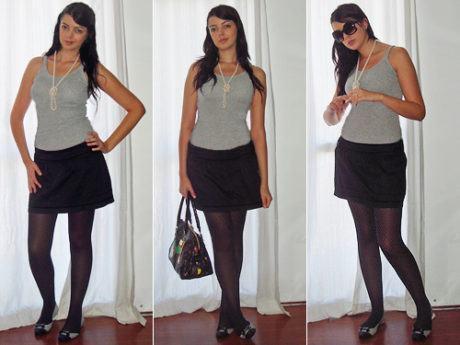 imagem 16 1 460x345 - LOOKS COM MEIA CALÇA : Com Saia, Vestido ou shorts (Moda Inverno)