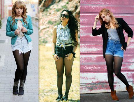 imagem 16 460x350 - LOOKS COM MEIA CALÇA : Com Saia, Vestido ou shorts (Moda Inverno)