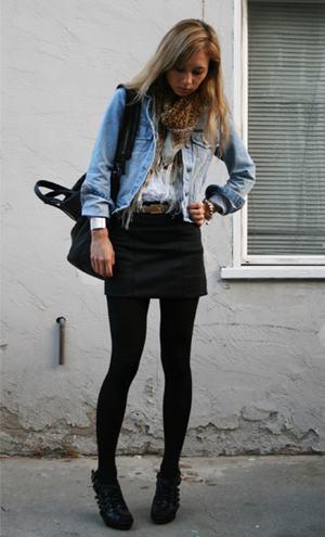 imagem 17 1 - LOOKS COM MEIA CALÇA : Com Saia, Vestido ou shorts (Moda Inverno)