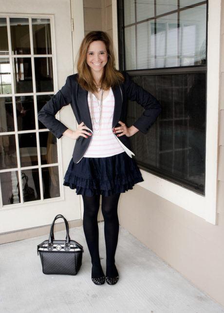 imagem 20 1 460x644 - LOOKS COM MEIA CALÇA : Com Saia, Vestido ou shorts (Moda Inverno)
