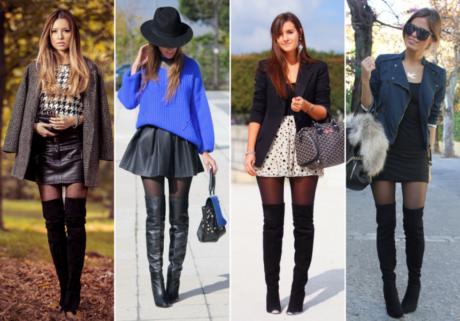 imagem 21 460x321 - LOOKS COM MEIA CALÇA : Com Saia, Vestido ou shorts (Moda Inverno)