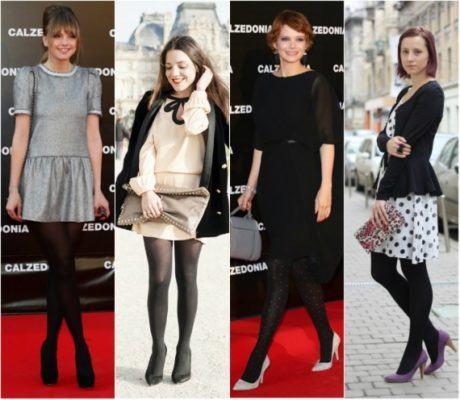 imagem 23 1 460x400 - LOOKS COM MEIA CALÇA : Com Saia, Vestido ou shorts (Moda Inverno)