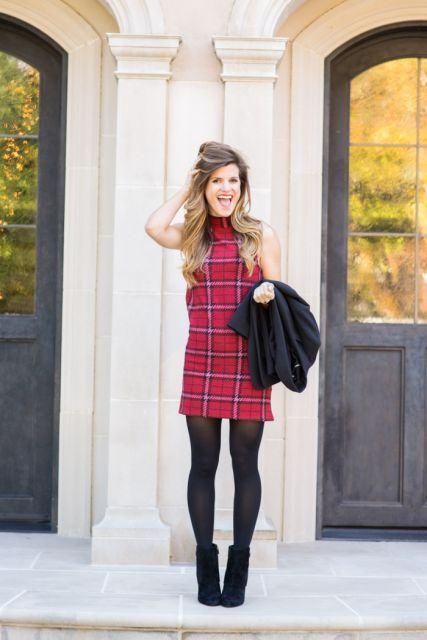 imagem 24 1 - LOOKS COM MEIA CALÇA : Com Saia, Vestido ou shorts (Moda Inverno)