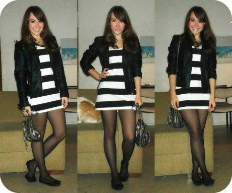 imagem 30 1 460x383 - LOOKS COM MEIA CALÇA : Com Saia, Vestido ou shorts (Moda Inverno)