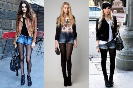 imagem 6 1 460x307 - LOOKS COM MEIA CALÇA : Com Saia, Vestido ou shorts (Moda Inverno)