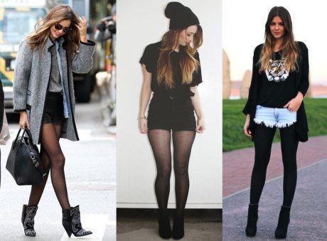 imagem 7 1 460x339 - LOOKS COM MEIA CALÇA : Com Saia, Vestido ou shorts (Moda Inverno)
