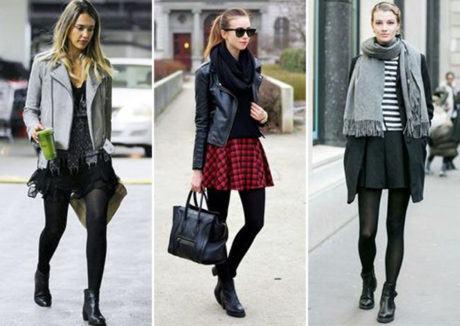 looks com meia calca 460x326 - LOOKS COM MEIA CALÇA : Com Saia, Vestido ou shorts (Moda Inverno)
