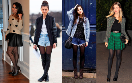 moda inverno meia calca 460x291 - LOOKS COM MEIA CALÇA : Com Saia, Vestido ou shorts (Moda Inverno)