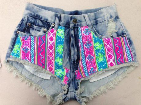 shorts jeans customizado 460x345 - SHORTS JEANS CUSTOMIZADOS em 30 estilos descolados
