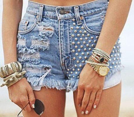 shorts jeans customizados 2 460x401 - SHORTS JEANS CUSTOMIZADOS em 30 estilos descolados