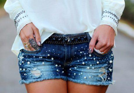 shorts jeans customizados 4 460x320 - SHORTS JEANS CUSTOMIZADOS em 30 estilos descolados
