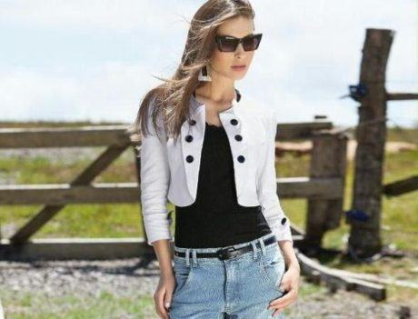 casaquinho curto 460x351 - Casaquinhos curtos como usar : Com saia, vestido, calça, shorts