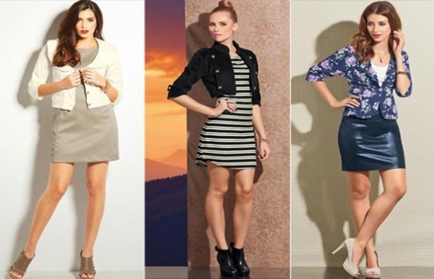 Casaquinhos curtos como usar : Com saia, vestido, calça, shorts