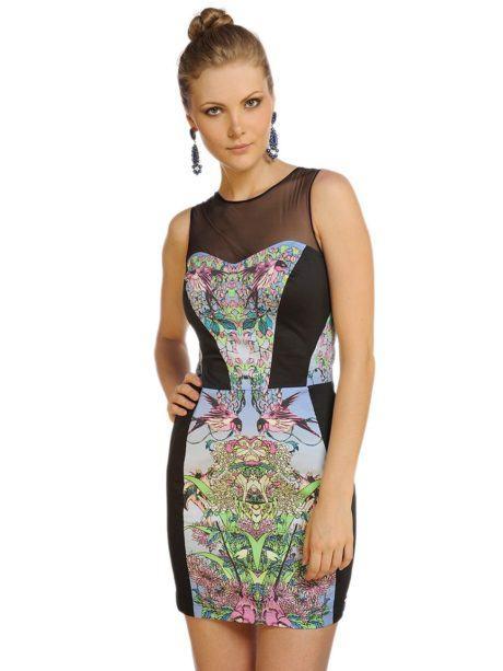 imagem 18 460x613 - Vestidos com detalhes em tule: Modelos com renda, estampados e mais