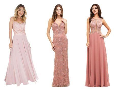 vestido longo rosa para festa 460x355 - VESTIDOS DE FESTA ROSA modelos longos e curtos