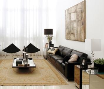 imagem 15 - SOFÁS DE COURO ; Várias cores e estilos para sala de estar