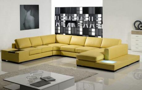 imagem 16 460x293 - SOFÁS DE COURO ; Várias cores e estilos para sala de estar