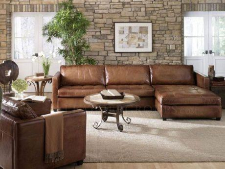 imagem 25 460x345 - SOFÁS DE COURO ; Várias cores e estilos para sala de estar