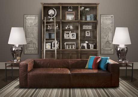 sofa em couro contemporaneo 460x326 - SOFÁS DE COURO ; Várias cores e estilos para sala de estar