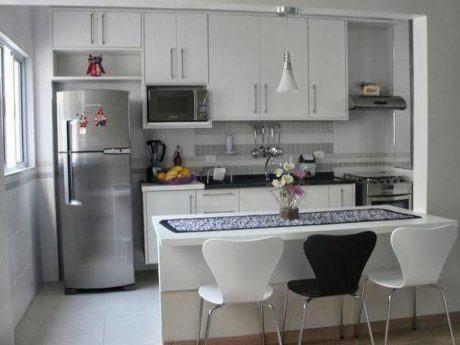 cozinha planejada balc%C3%A3o americana 460x345 - COZINHA PLANEJADA COM BALCÃO 30 formas de decorar