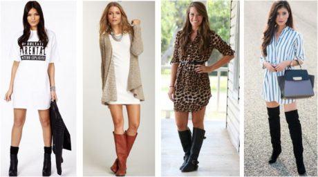 vestidos para usar com botas 460x256 - VESTIDOS PARA USAR COM BOTAS modelos outono inverno