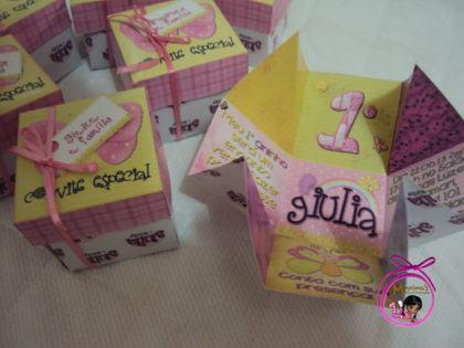 convite caixinha para aniversario de 1 ano menina