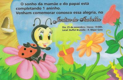 convites de aniversario de 1 ano joaninha