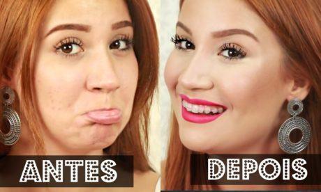 antes e depois maquiagem para esconder espinhas 460x276 - Maquiagem para esconder espinhas veja como fazer